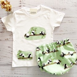 Conjunto Panda Mint