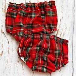 Sarga Cuadro Escocés Rojo